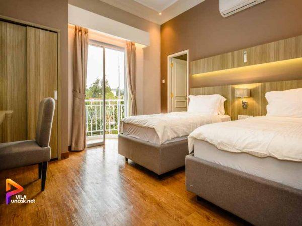 villa alkobu 2 kamar